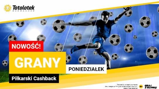 Totolotek oferuje piłkarski CASHBACK 30 PLN