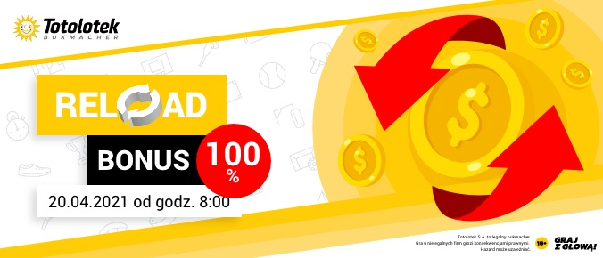 Totolotek reload do 100 PLN