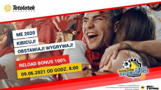 Reload100% do 200 PLN na Euro od Totolotka